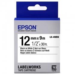 Cinta de Impresión Epson LK-4WBN Negro Sobre Blanc