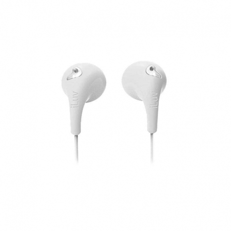 Audifonos iLuv Bubble Gum 2 Cableado 3.5mm Blancos
