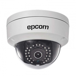 Cámara Domo Epcom IP 2MP 2.8mm IP67 IR30m PoE