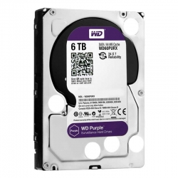 HDD Western Digital Purple 6TB 64Mb 3.5' 5400Rpm