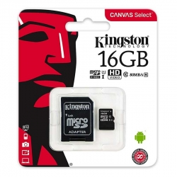Memoria MicroSD Kingston Canvas 16GB Class 10