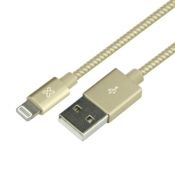 Cable USB Klip Xtreme KAC-001GD iPhone 0.5m Dorado