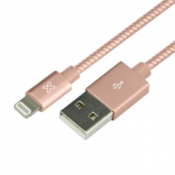 Cable USB Klip Xtreme KAC-001RG iPhone 0.5m Rosado