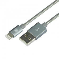 Cable USB Klip Xtreme KAC-010GR iPhone 1.0m Gris