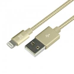 Cable USB Klip Xtreme KAC-020GD iPhone 2.0m Dorado