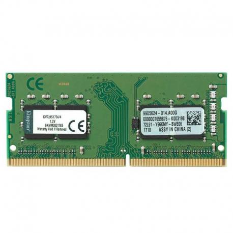 Memoria RAM Kingston 4GB DDR4 SODIMM 2400MHz 1.2V