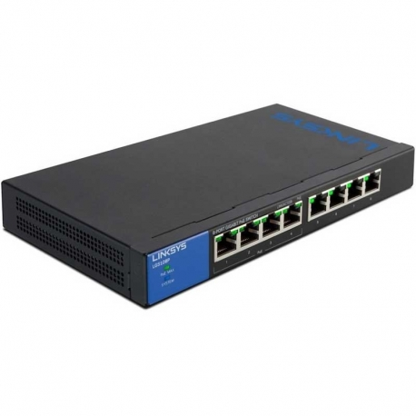 Switch Linksys LGS108P 8P GigaE PoE Capa2 QoS