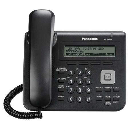 Teléfono IP Panasonic KX-UT123X-B Básico 2 Puertos
