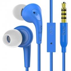 Audifono iLuv Cableado Azul Boton Para El Oido