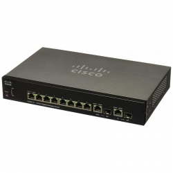 Switch Rack Cisco SG350-10P-K9 L3 8xGb(PoE+) 2xSFP