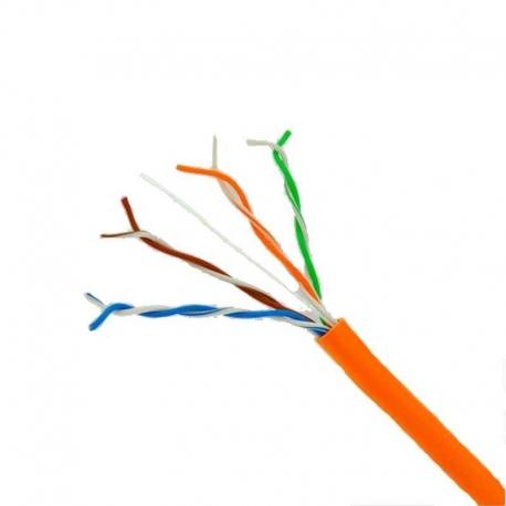 Cable Utp ESS D067 Cat5E Naranja carrucha de 305m