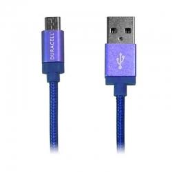 Cable Carga Duracell LE2190 Micro USB Azul 1.5m