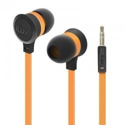 Audífonos iLuv Neon Sound Stéreo Naranja 3.5mm