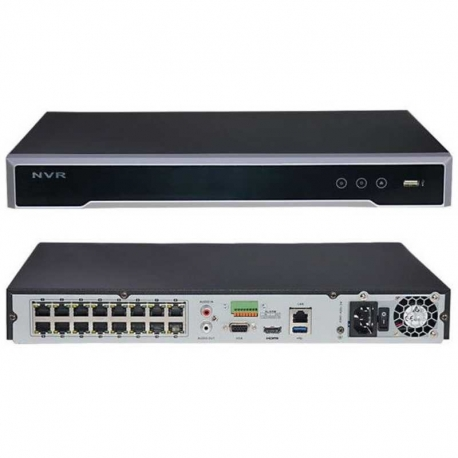 NVR Hikvision DS-7616NI-Q2/16P 16HC H.265 8MP PoE