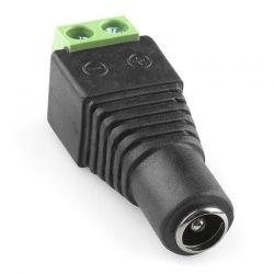 Conector Eléctrico Hembra 3.5mm 12VDC de Tornillo