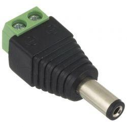 Conector Eléctrico Macho 3.5mm 12VDC de Tornillo
