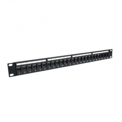 "Patch Panel Genérico CQN5-10K 19"" 1U Cat5E 24P"
