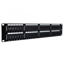 "Patch Panel Genérico CQN5-11K 19"" 1U Cat5E 48P"