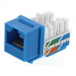 Conector Módular Genérico CQN6-01B Cat6 110 Azul
