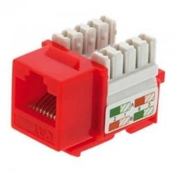 Conector Módular Genérico CQN5-21R Cat5E 110 Rojo