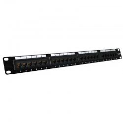 "Patch Panel Genérico CQN6-10K 19"" 1U Cat6 24P"