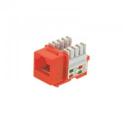 Conector Genérico CQN6-01O Cat6 110 UL Naranja