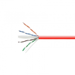 Carrucha de Cable Teklink UTP 305m UL Cat6 Rojo