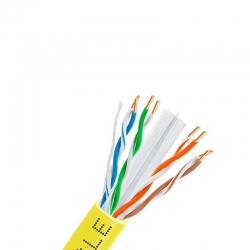 Carrucha de Cable Teklink UTP 305m Cat6 Amarillo