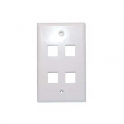 Placa Pared Tekdata FPI-004-WH 4 Puertos Blanco