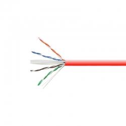 Carrucha de Cable Teklink UTP 305m UL CAT5e Rojo