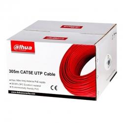 Cable UTP Dahua DH-PFM920I-5E CAT5e 305m Rojo