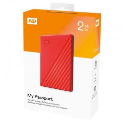 Disco Externo Western Digital My Passport 2TB Rojo