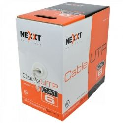 Caja de Cable de Red UTP Cat 6 NEXXT Color Gris