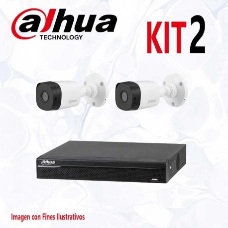 Kit Dahua Básico 1 XVR 4CH 2 Cámaras CVI 1080p