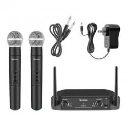 Sistema Audio Inalámbrico Steren 2 Micrófonos UHF