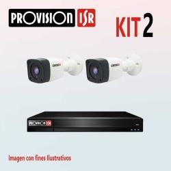 Kit Provision Básico 1 DVR 4CH 2 Cámaras AHD 720p