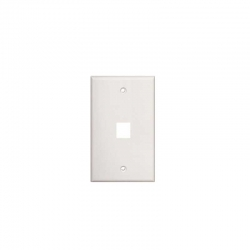 Placa Pared Tekdata FPI-001-WH 1 Puerto Blanco