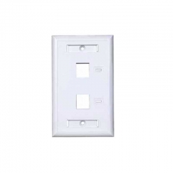 Placa Pared Tekdata FPI-002-WH 2 Puertos Blanco