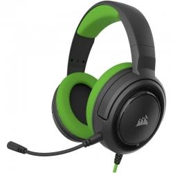 Audífonos Gaming Corsair Hs35 Stereo 3,5mm Green