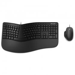 Combo Teclado & Mouse Microsoft Ergonómico -Black