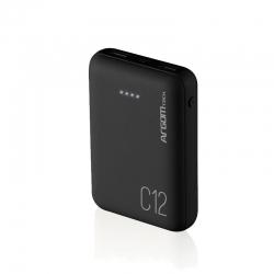 Batería portátil ARGOM C12 12000Mah Usbx2 Negro
