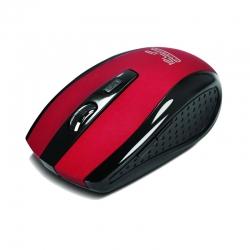 Mouse Klever Inalmbrico ergonómico 2.4Ghz Rojo