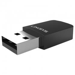 Miniadaptador USB Wi-Fi Linksys Ac600 Max-Stream