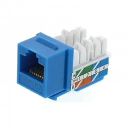 Conector De Crimpado Cablix RJ45 hembra Cat5e azul