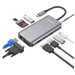 Adaptador Hub Mokin 10 en 1 USB C a HDMI / VGA
