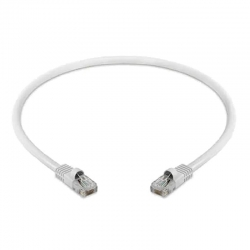 Cable de red Patch Cord UTP Cat6 30cm Color Blanco