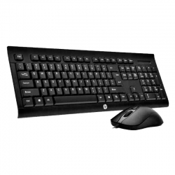 Combo Teclado y Mouse HP Gaming Usb LED Negro