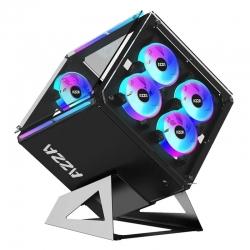 Cubo CASE AZZA CSAZ-802F iluminación DRGB AT, ITX