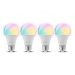 Bombillo Nexxt Smart Wi-Fi Multicolor LED pack 4