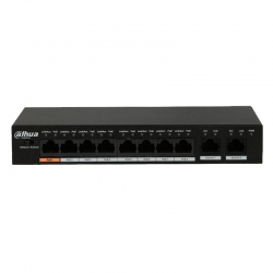Switch Dahua PoE Fast Ethernet de 8 puertos